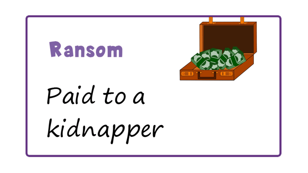 Ransom meaning - Money and Its Forms