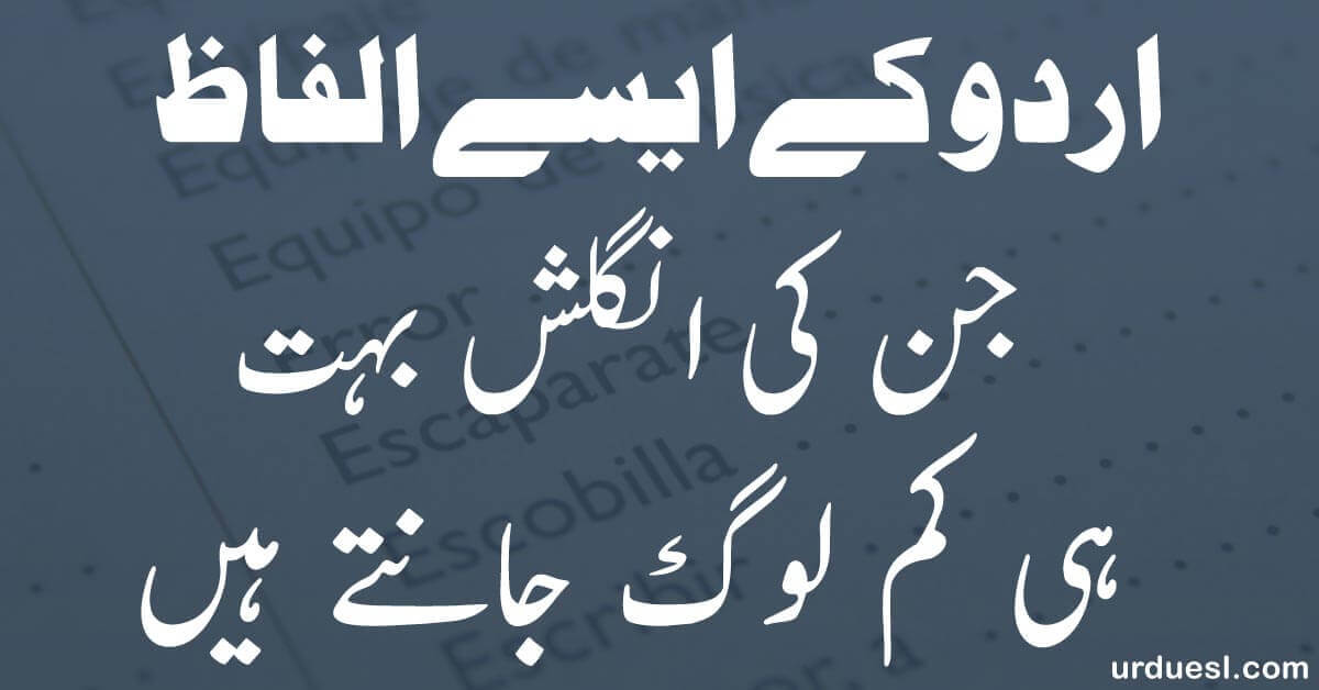 Read more about the article Urdu To English Words Meaning: 55 Urdu words whose English few know