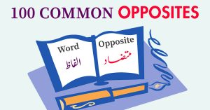 List of 100 Most Common Opposite Words in English with Urdu Meaning