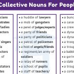 60+ Collective Nouns for Groups of People's