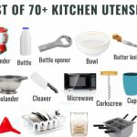 List of 70+ Kitchen Utensils Names with Pictures